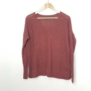 American Eagle Outfitters   Muted Orange Knit Top
